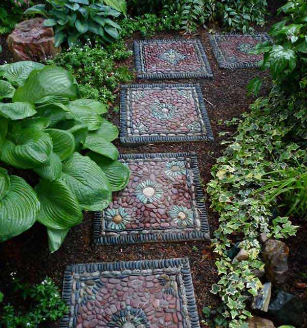 Cool DIY Stepping Stone 1