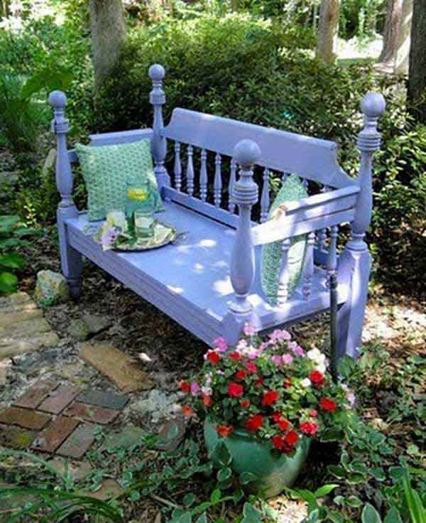 35 popular diy garden benches you can build it yourself amazing diy interior home design Bench in front of bed