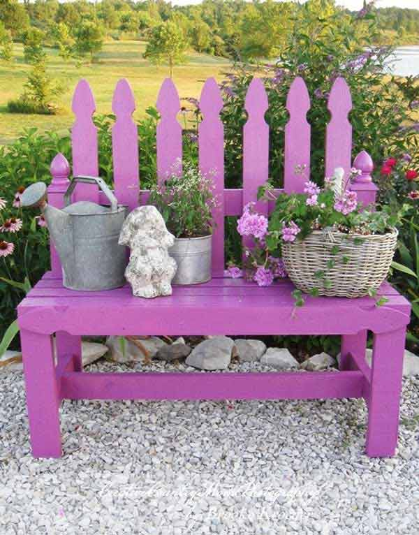 35 popular diy garden benches you can build it yourself amazing diy benches for garden 24 solutioingenieria Image collections