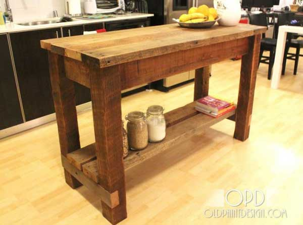 how to build a kitchen island table 32 simple rustic kitchen islands amazing diy 27747