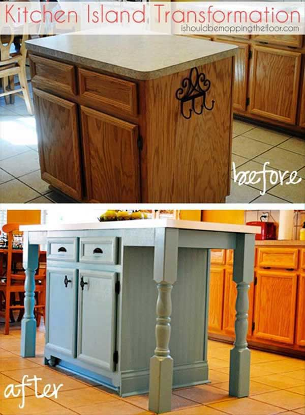 delightful Kitchen Island Diy Ideas #2: Rustic-Homemade-Kitchen-Islands-11