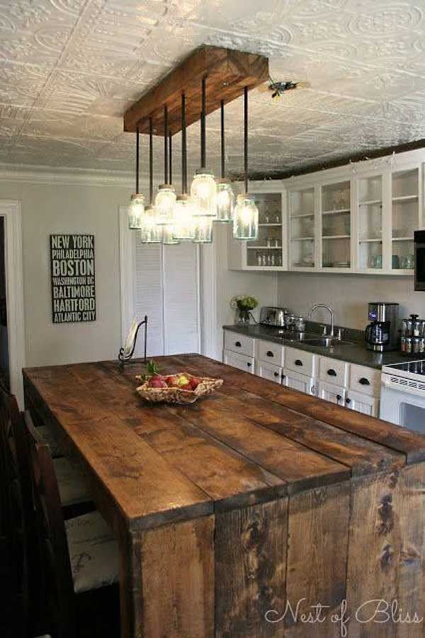 Homemade Rustic Kitchen Islands 600 x 901