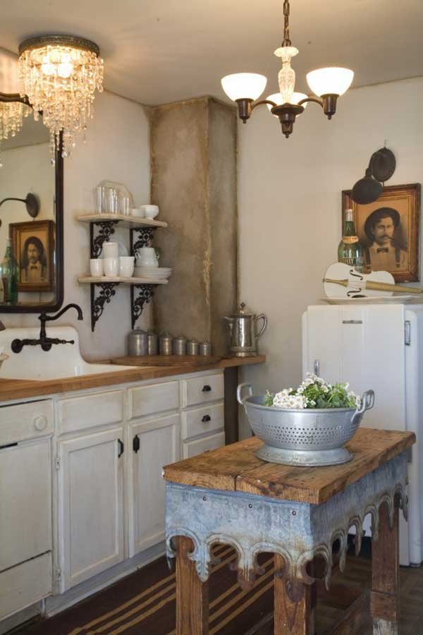 32 Simple Rustic Homemade Kitchen Islands - Amazing DIY ... on Rustic:fkvt0Ptafus= Farmhouse Kitchen  id=68748