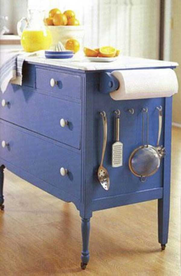 repurposed dresser kitchen island 32 simple rustic kitchen islands amazing diy 4770