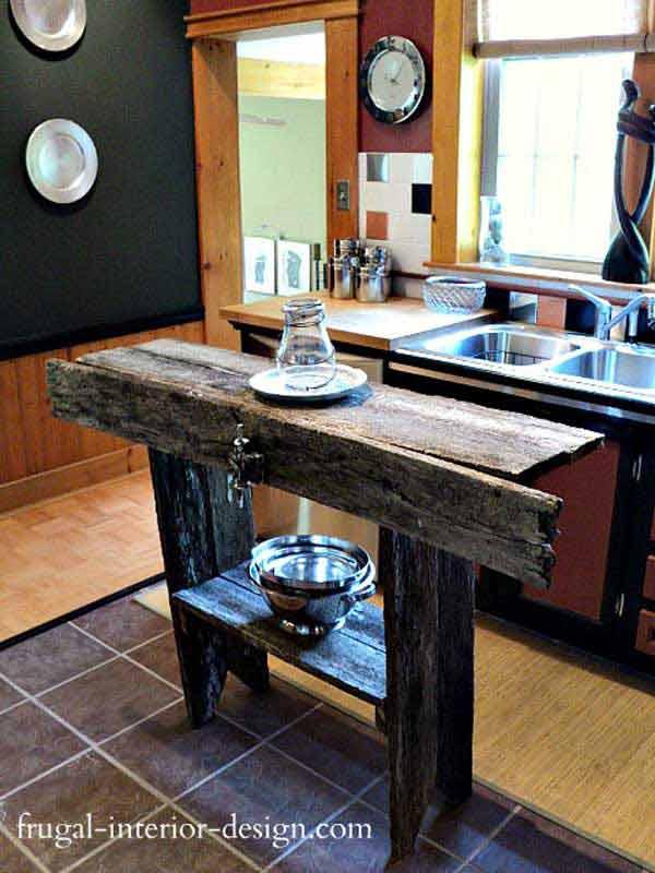 32 Simple Rustic Homemade Kitchen Islands Amazing Diy Interior Home Design