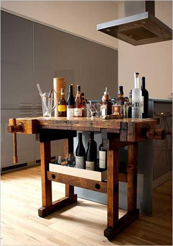 32 Simple Rustic Homemade Kitchen Islands - Amazing DIY ... on Farmhouse:-Xjylc6A2Ec= Rustic Kitchen  id=96214