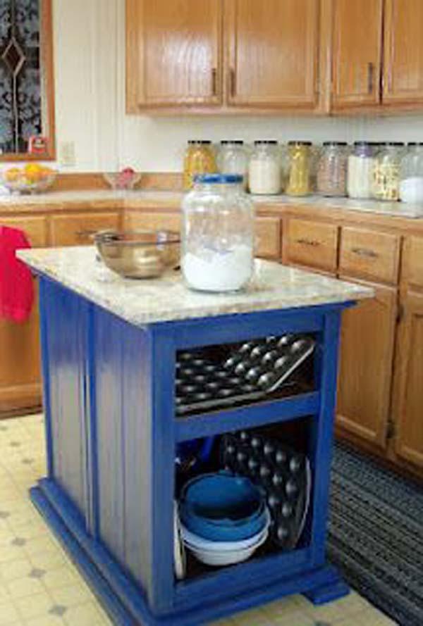 32 Simple Rustic Homemade Kitchen Islands - Amazing DIY ... on Farmhouse:-Xjylc6A2Ec= Rustic Kitchen  id=86068