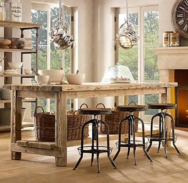 Kitchen Island Furniture: 32 Simple Rustic Homemade Kitchen Islands