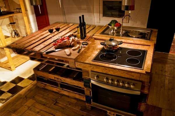 32 simple rustic homemade kitchen islands amazing diy interior home design - Tafelkeuken americaine ...