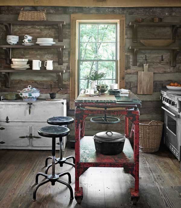32 simple rustic homemade kitchen islands amazing diy Cabin kitchen decor