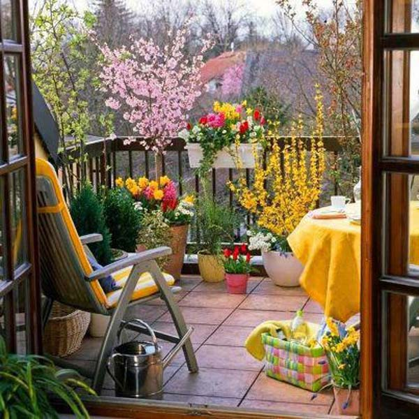 Balcony Garden Design garden swing chair msb 11 Small Balcony Garden Ideas 11