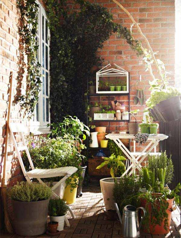30 inspiring small balcony garden ideas amazing diy. Black Bedroom Furniture Sets. Home Design Ideas