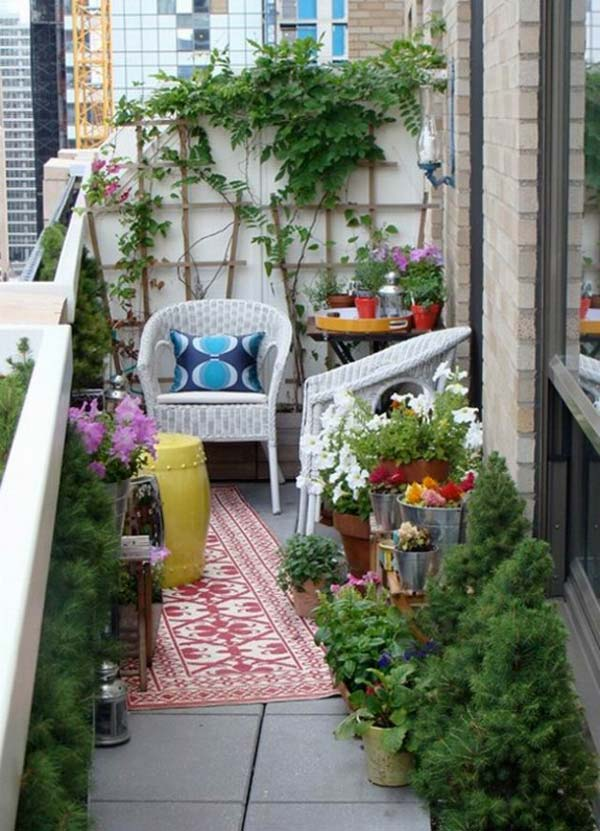 Wonderful Small Balcony Garden Ideas 4