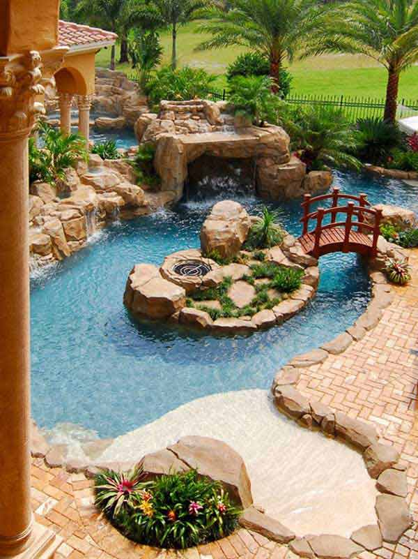 35 impressive backyard ponds and water gardens amazing for Water pond design