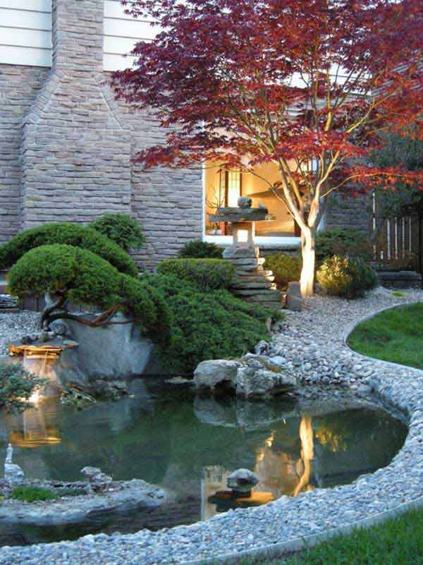 35 impressive backyard ponds and water gardens amazing for Water garden landscaping