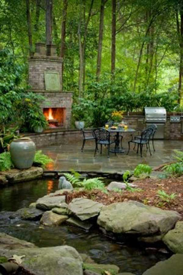 35 impressive backyard ponds and water gardens amazing for Outdoor garden pool