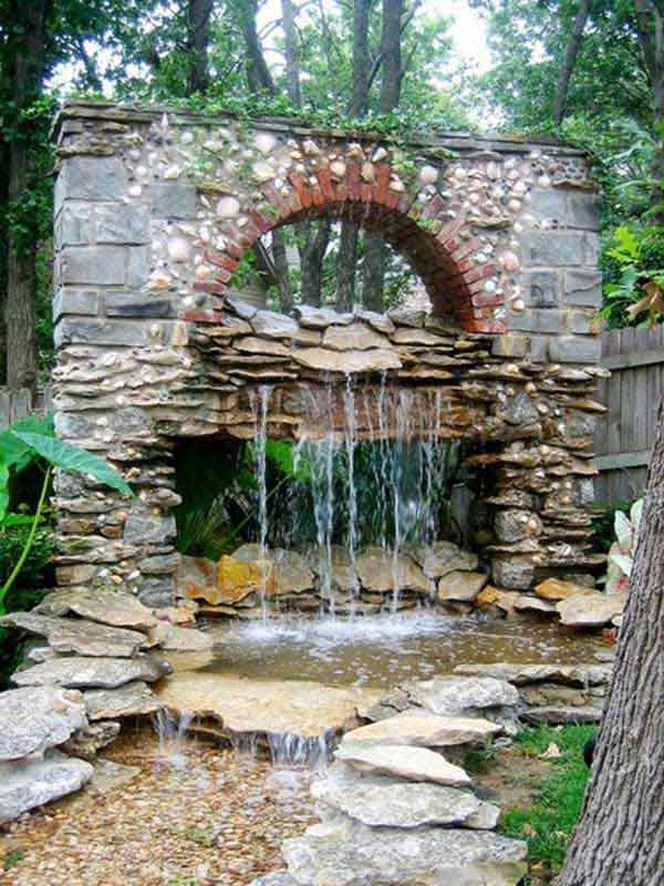 Backyard Pond Ideas Garden Designs With Stone And