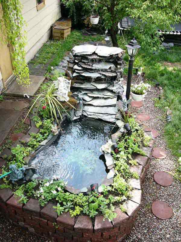 35 impressive backyard ponds and water gardens amazing for Above ground koi pond design ideas