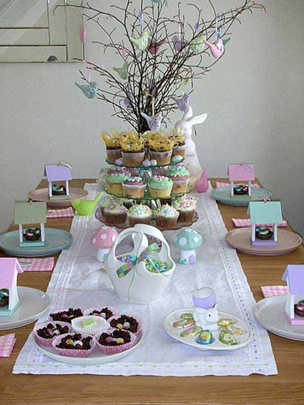 30 creative easy diy tablescapes ideas for easter for Diy easter decorations for the home