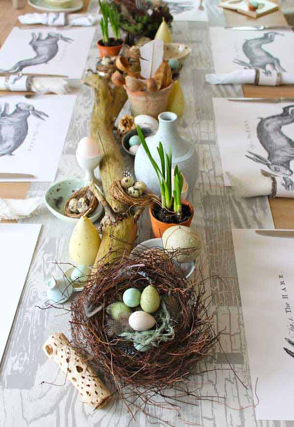 Home Interior Design Ideas: 30 Creative Easy DIY Tablescapes Ideas For Easter