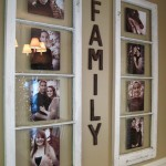 Old Window Turned Family Photos Frame
