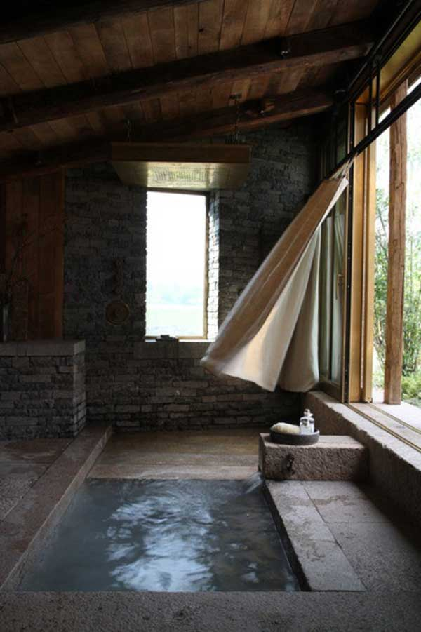 22 Natural Stone Bathtub Ideas For Your Classy Bathroom