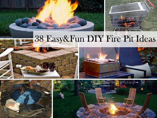 38 Easy and Fun DIY Fire Pit Ideas - Amazing DIY, Interior & Home Design