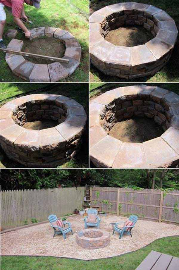 38 easy and fun diy fire pit ideas amazing diy interior home design diy fire pits 15 solutioingenieria Gallery
