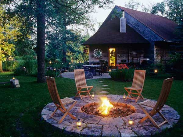 Fire Pit Backyard Ideas outdoor patio with rectangular firepit firepit ideaspatio ideasbackyard Diy Fire Pits 26