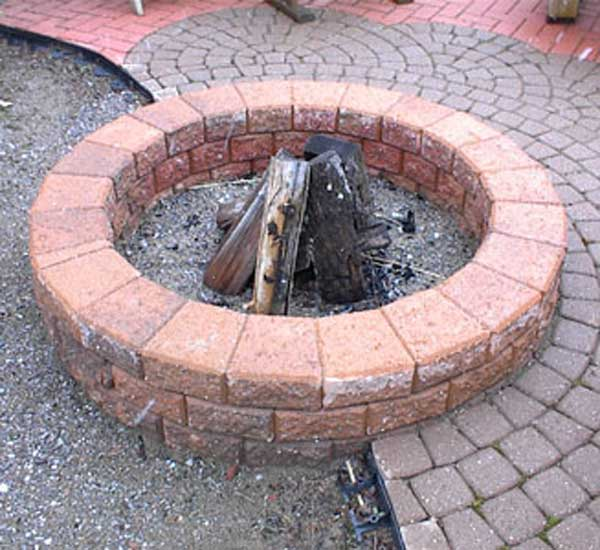 Brick Fire Pit : Easy and fun diy fire pit ideas amazing interior