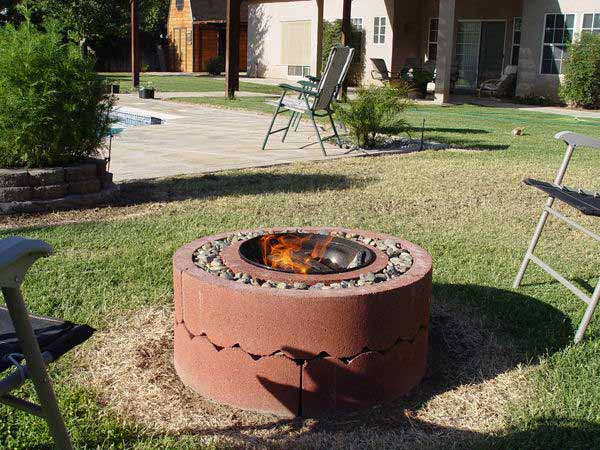 38 easy and fun diy fire pit ideas amazing diy interior for Do it yourself fire pit designs