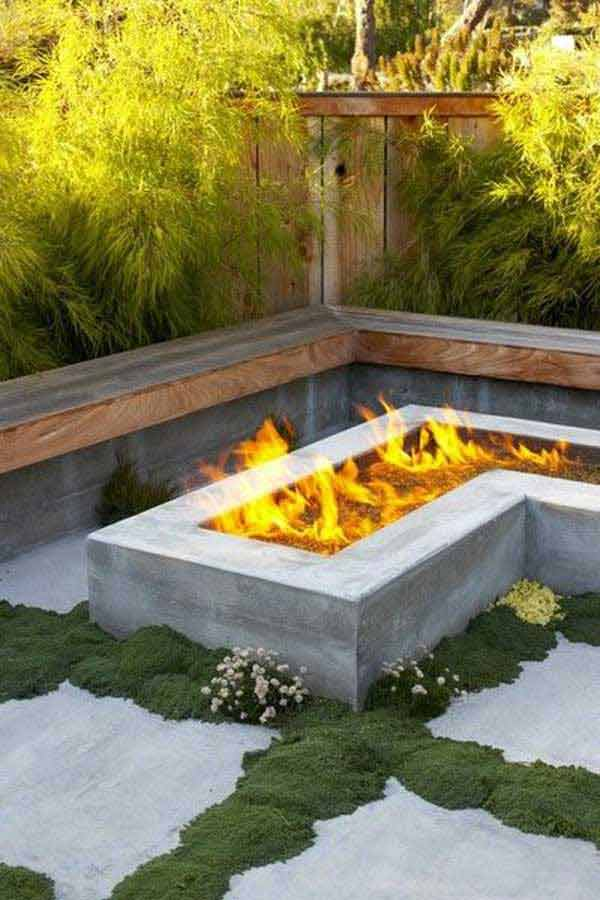 38 easy and fun diy fire pit ideas for Diy outdoor gas fireplace