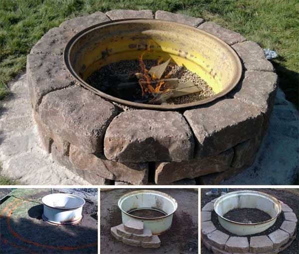 Upcycled Truck Wheel Firepit