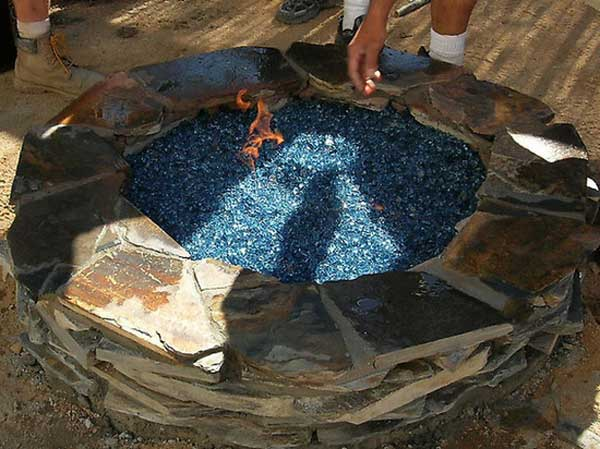 Create a Fire Pit with Fireplace Glass