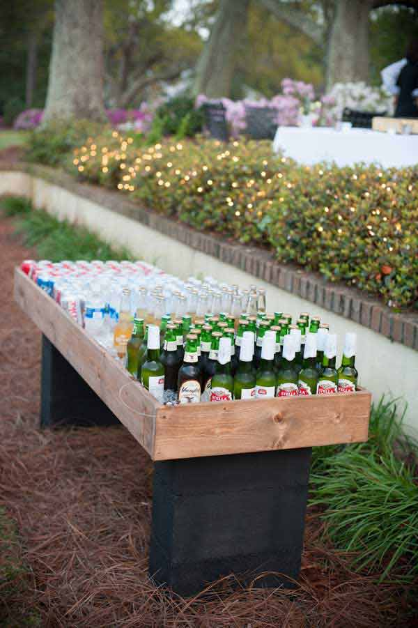 DIY Outdoor Bar Station 13