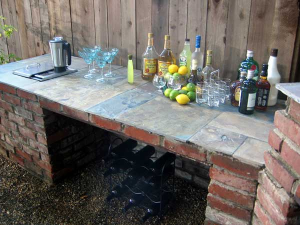 Superb DIY Outdoor Bar Station 23