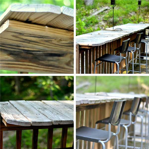 diy outdoor bar station 4 - Outdoor Patio Bar Ideas