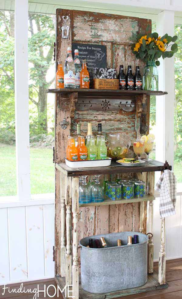 DIY Outdoor Bar Station 6
