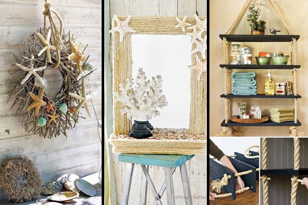 36 breezy beach inspired diy home decorating ideas - Diy Design Ideas