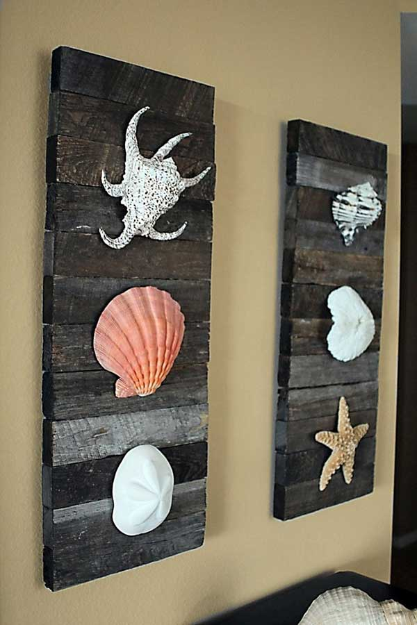 36 breezy beach inspired diy home decorating ideas for Coastal wall decor ideas