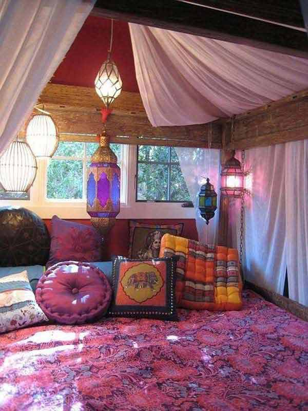 35 charming boho chic bedroom decorating ideas amazing for Room decorating ideas hippie