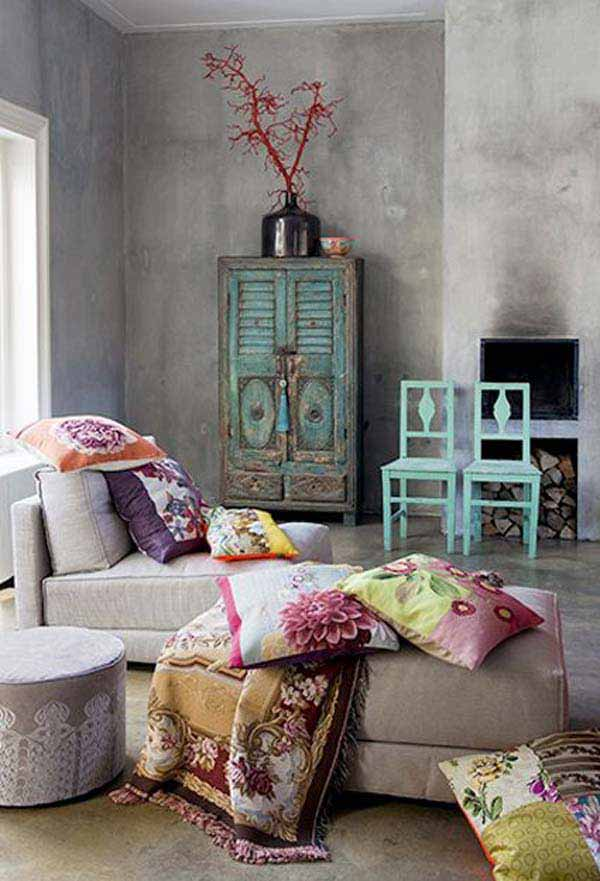 35 charming boho chic bedroom decorating ideas. Black Bedroom Furniture Sets. Home Design Ideas