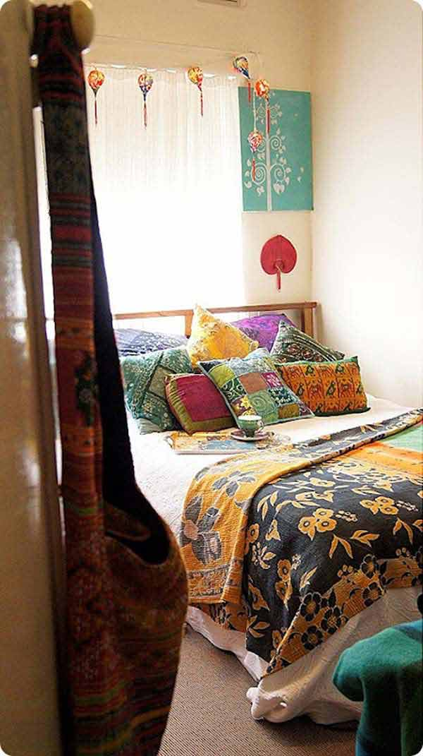 Bohemian style bedroom decorating ideas interior design for Bedroom ideas boho