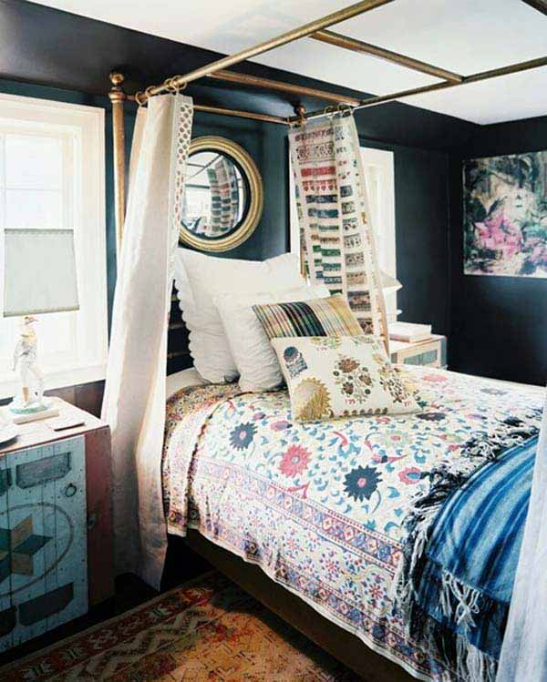 Vintage Bedroom Accessories Uk Dark Accent Wall Bedroom Bedroom Curtain Ideas Pinterest Bedroom Ideas Nz: 35 Charming Boho-Chic Bedroom Decorating Ideas