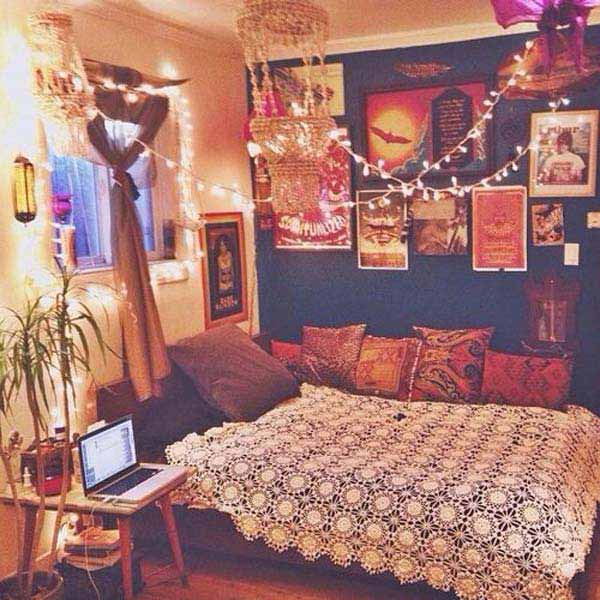 Charming Boho Bedroom Ideas 33