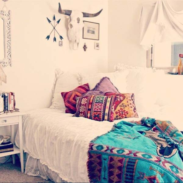 35 charming boho chic bedroom decorating ideas amazing for Bedroom ideas pinterest