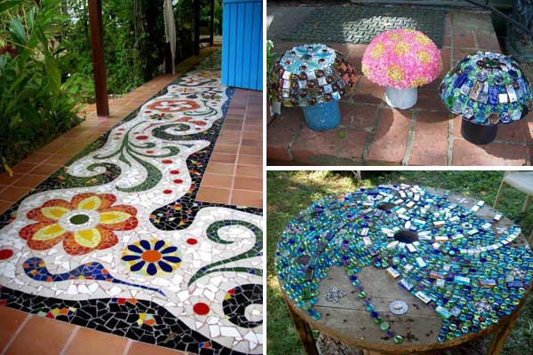 28 stunning mosaic projects for your garden amazing diy for Homemade garden decor crafts