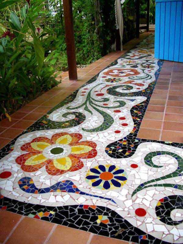 mosaic garden project 11 - Mosaic Tile Design Ideas
