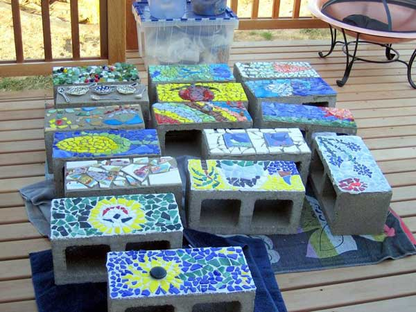 mosaic garden project 19 - Mosaic Design Ideas