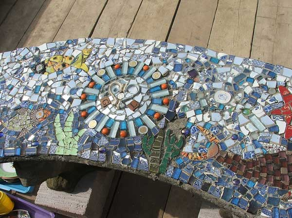 28 stunning mosaic projects for your garden amazing diy interior mosaic garden project 24 1 sciox Image collections